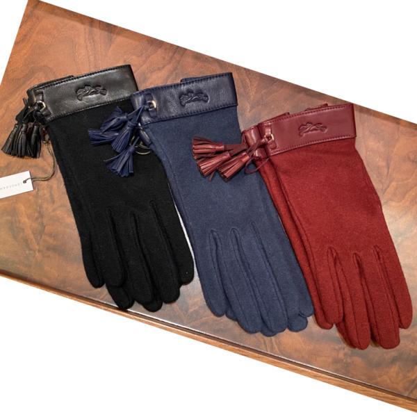 longchamp gloves wool cashmere blue wine red black longchamp ireland