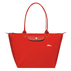 Longchamp club pliage vermilion tote