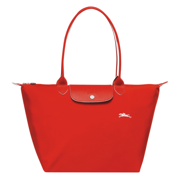 Longchamp club pliage vermilion tote