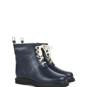 ilse jacobsen rainbbot navy laces monreal rubber fleece lining