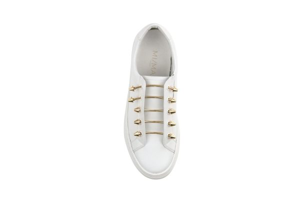 trainers sneakers white runners walking shoes piercing monreal rose gold