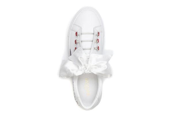 MIMAI TRAINERS JOELOVE LOVE HEARTS EMBROIDERY monreal piercings laces satin