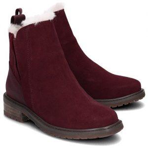 EMU PIoneer australia merino wool sheepskin waterproof claret bourdeaux wine boot monreal leather