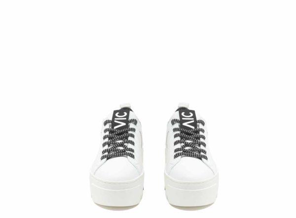 vic matie platform sneaker runner white trainer Monreal leather
