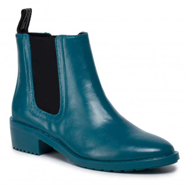 Waterproof PVC Removable Australian sheepskin footbed Soft microsuede lining Elastic for quick and easy foot entry PVC heel and outsole wEMU AUSTRALIA RAINBOOT ELLIN MONREAL WATERPROOF TEAL BLUE