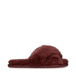 emu slipper sheepskin wine