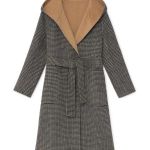 simorra reversible coat tan coat camel coat wool coat monreal