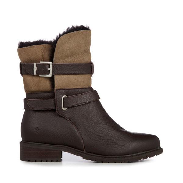 emu australia waterproof boot xstrata pinjarra brown leather