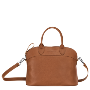 longchamp ireland foulonne cavalcade handbag purse crossbody tan caramel cognac leather
