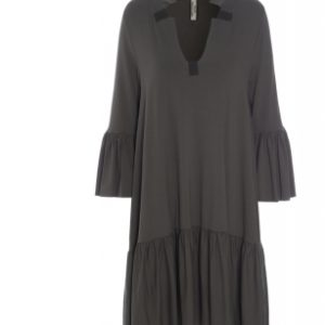 henriette khaki dress hscp fleece cotton loose oversized ireland dress boutique