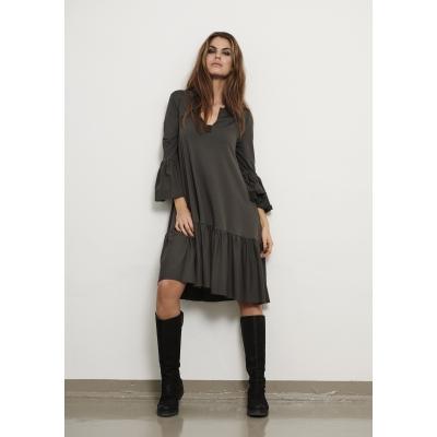 henriette khaki dress hscp fleece cotton loose oversized ireland dress boutique