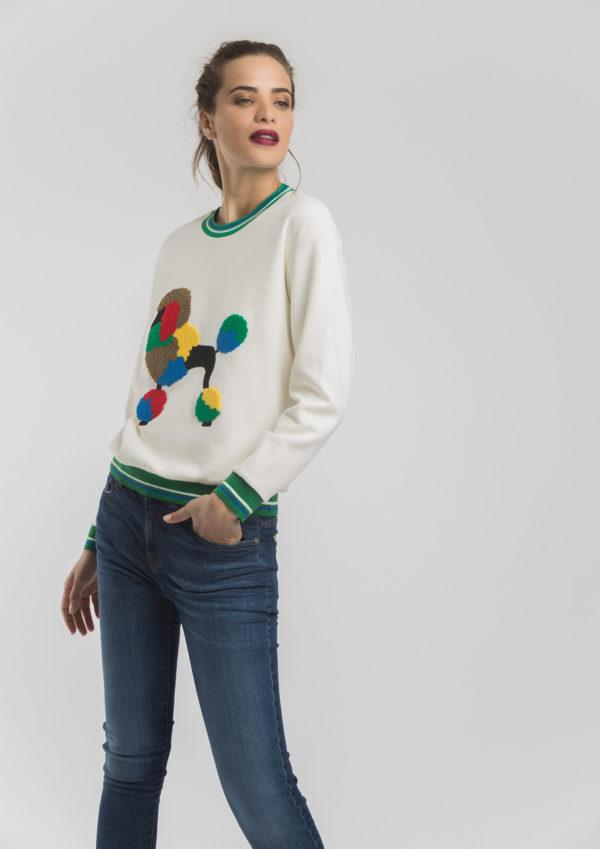 poodle sweatshirt sweater fun original colourful loungewear