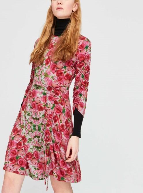 Roses dress floral monreal cork