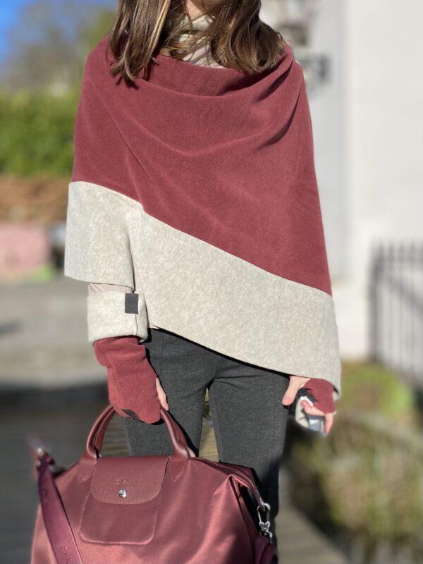 fleece mittens wrist warmers henriette wine colour monreal poncho longchamp ireland