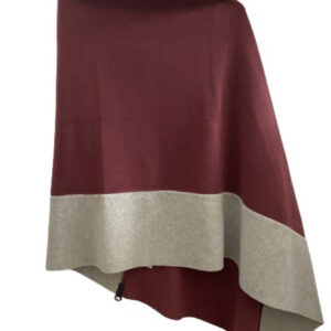 poncho henriette fleece wine colour monreal ireland hscp
