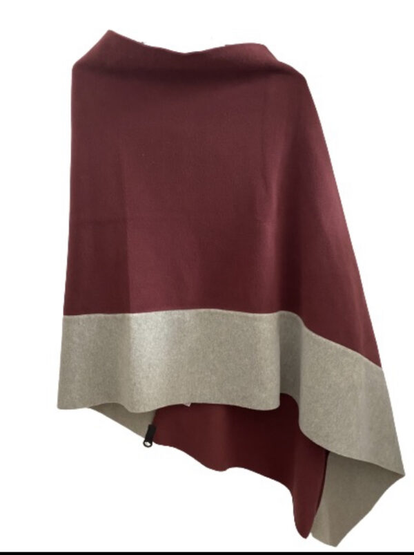 poncho henriette fleece wine colour monreal ireland hscp