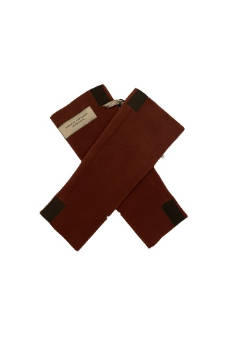 fleece mittens wrist warmers henriette wine colour monreal poncho