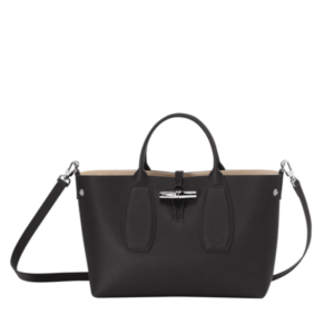 longchamp ireland roseau black handbag crossbody