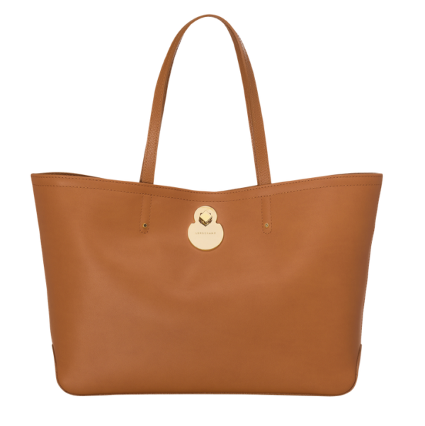 longchamp ireland cavalcade honey natural tote shoulder leather bag