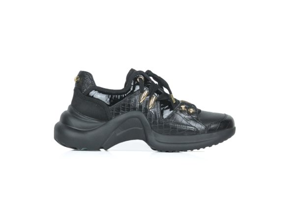 mi mai finn leather black trainer runner basket sneaker piercings