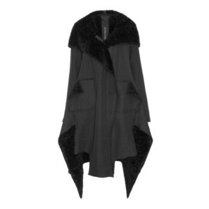 xenia coat faux fur sherling black monreal