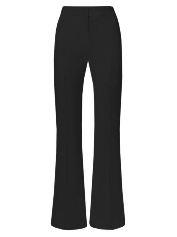 crepe flare flared trousers pants black simorra