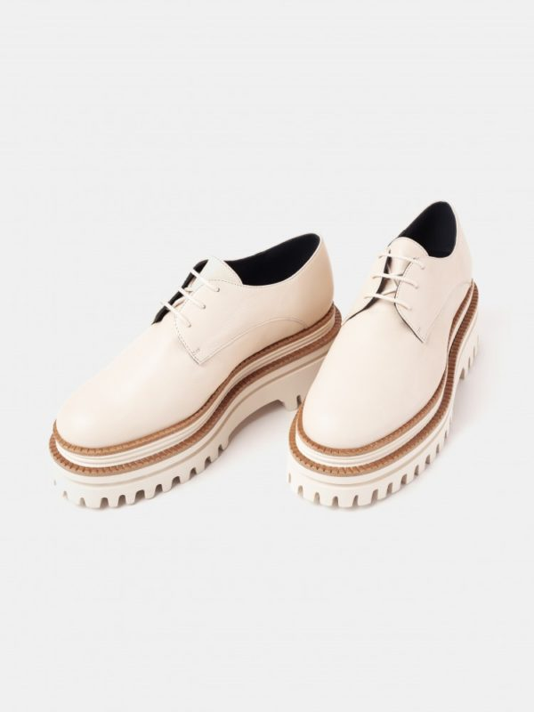 paloma brogues lace up shoes boots monreal leather cork ireland cream brogues white soles