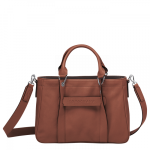 longchamp 3D handbag cognac tan leather longchamp ireland