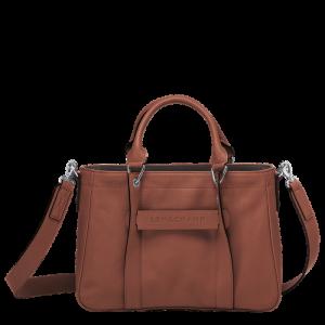 longchamp 3D handbag cognac tan leather longchamp ireland