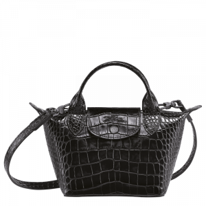 longchamp le cuir longchamp ireland le cuir bag crossbody black croc cocco croc embossed