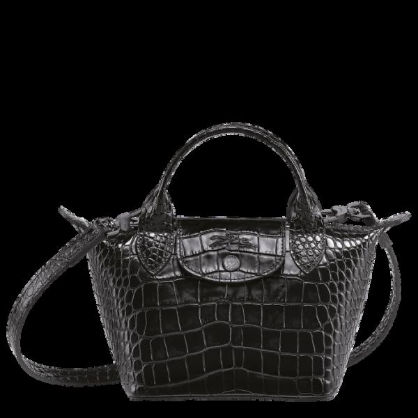 longchamp le cuir longchamp ireland le cuir bag crossbody black croc cocco croc embossed