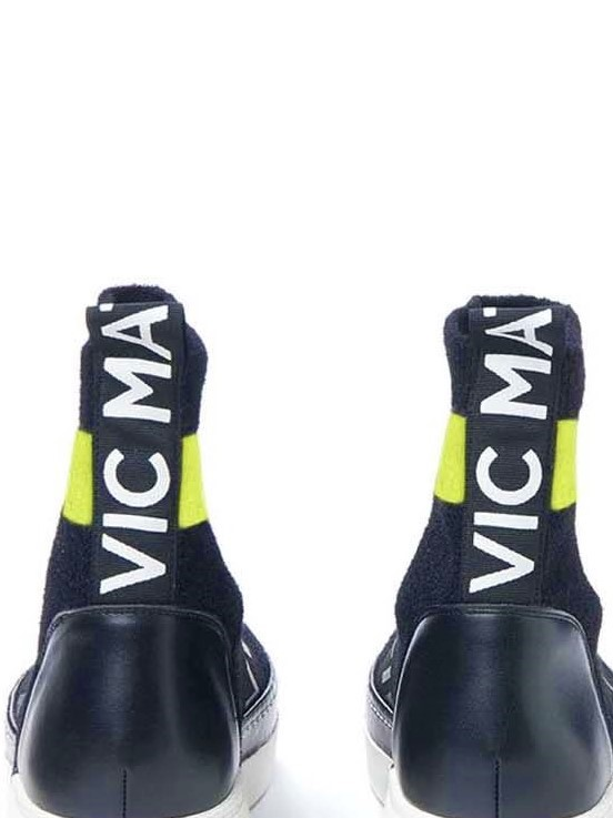 vic matie ankle boot fabric elastic monreal leather black boot sock boot