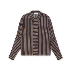 shirt stripes rayas navy orange elegant boutique irish ireland monreal