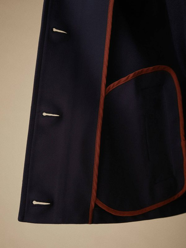NAVY SHORT JAcket suit monreal iireland simorra buttonned