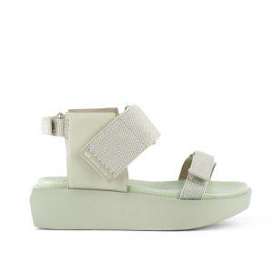 WaLo wa lo Seagrass leather aqua Monreal Ireland designer sandals platform flat form delta run issEY mi miyake Ireland