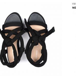 Issey Miyake Node Bind Black Sandal woven Rose Ireland Monreal