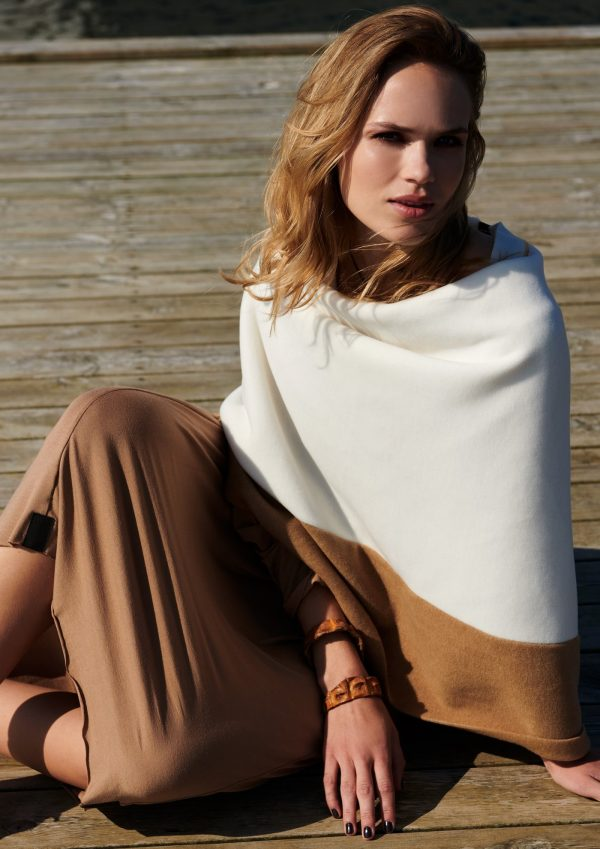 poncho fleece sand taupe monreal beige ireland henriette steffansen