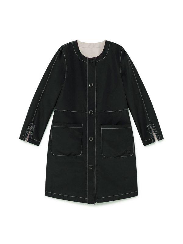 coat rainvoat summer coat sparka reversible javier simorra monreal irrish boutique smart elegant black stone neutralpring coat