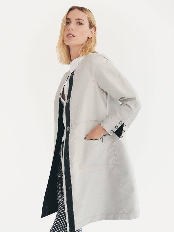 parka reversible javier simorra monreal irrish boutique smart elegant black stone neutral