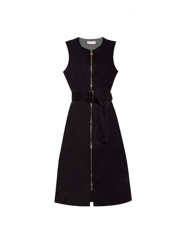 fashion ireland boutique monreal black dress zipped belted dress
