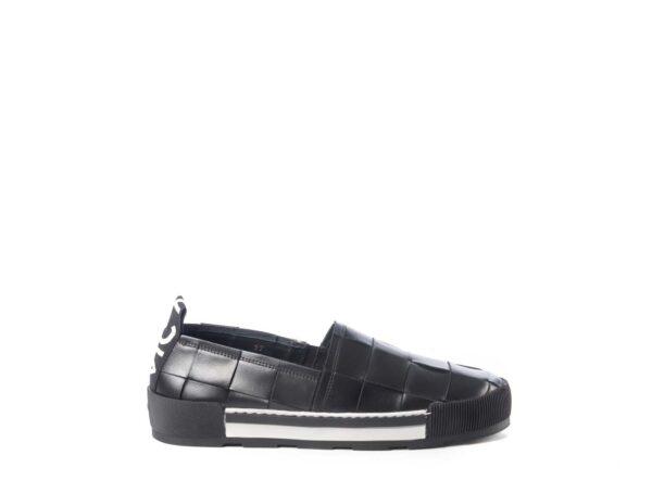 vic matie black loafers woven leather platform flatform shoes Ireland cork monreal slip on