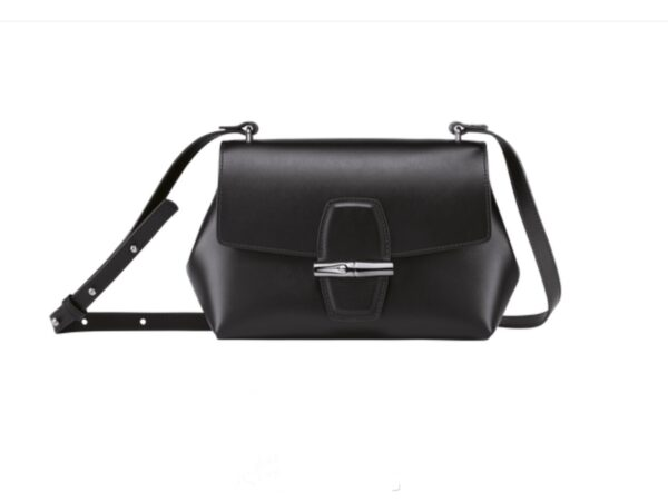 LONGCHAMP Ireland Roseau black Monreal leather designer bags crossbody Le Pliage