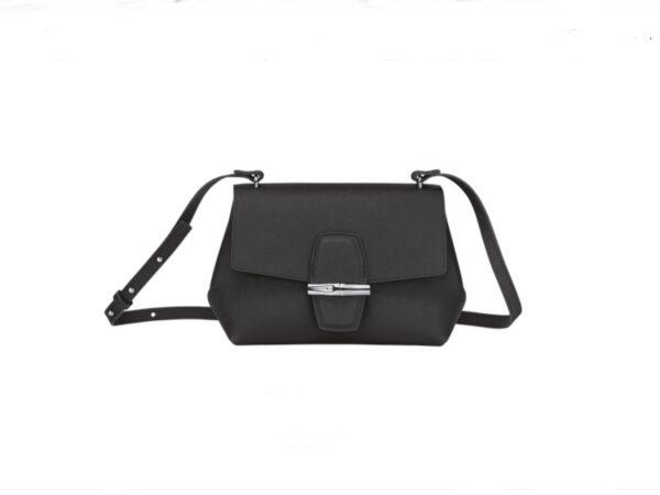 Longchamp rouseau powder crossbody bag leather black