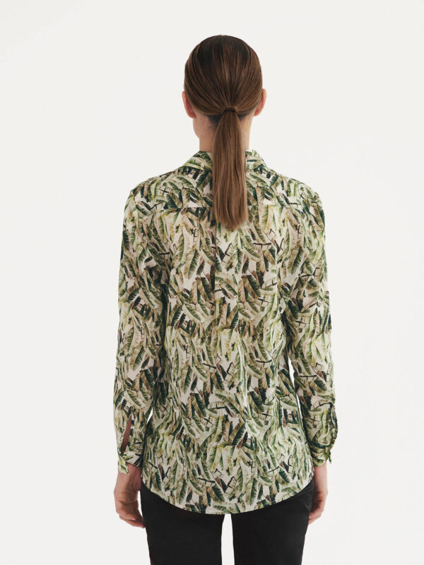 Si otra jungle palm tropical print leaf shirt Monreal cork Ireland blouse boutique