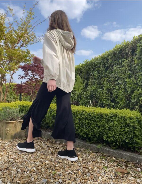 Xenia culottes black trousers slit Monreal Ireland stylish