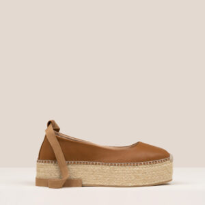 Espadrilles tan leather ankle wrap tie lace ireland platform flatform ss21 lace up irish boutiqu