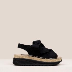 gaimo vina villa sandals mesh black bow sneakers textile espadrilles ireland