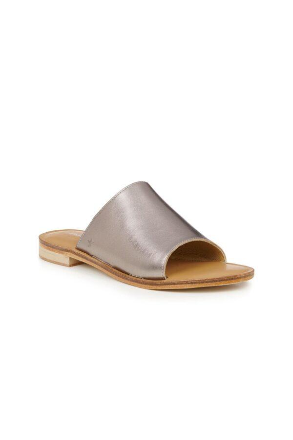 Emu Minogue silver Australia Ireland pewter leather slides sandals
