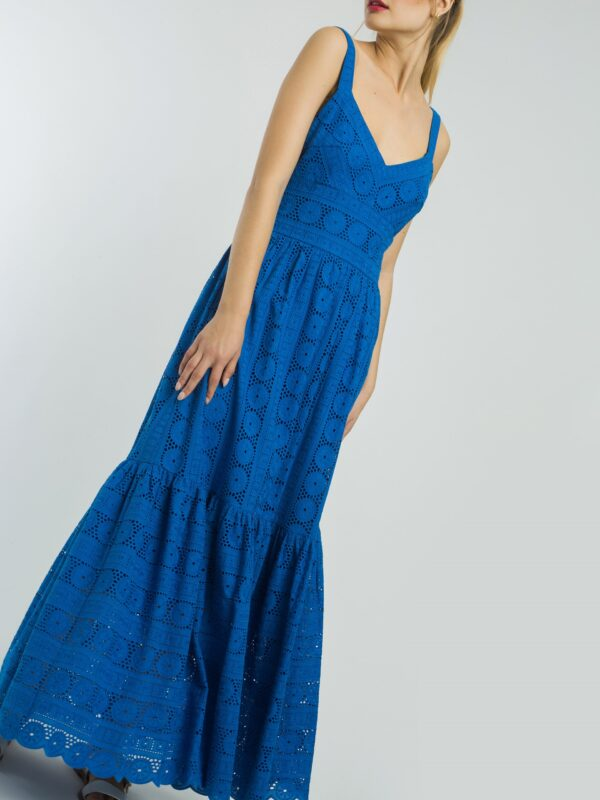 dress blue cobalt lace alba conde ireland long beautiful amazing