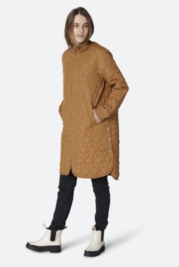 Ilse Jacobsen Ireland cashew tan coat padded quilted